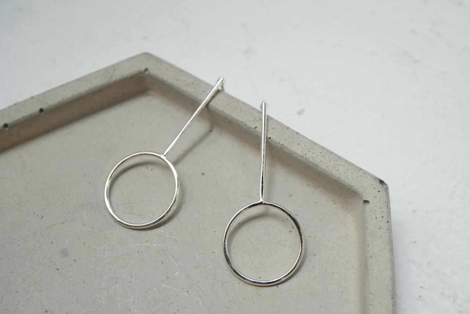 純銀幼線款耳環