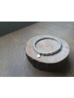 4mm純銀扁豆彈性手鏈 配OON純銀鎖牌