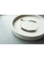 9顆4mm變形黑色天然珍珠純銀手鍊