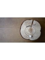 9mm近圓白色天然珍珠純銀手鍊